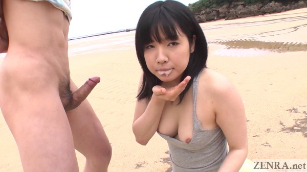 airi minami cum in mouth from beach blowjob