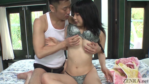 pale japanese woman stripped