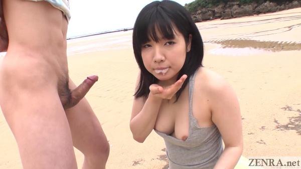 airi minami cum in mouth from beach blowjob