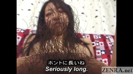 very long japanese pubic hair