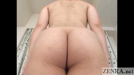 big butt pale japanese amateur rear view