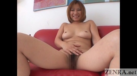 embarrassed spread and naked japanese woman