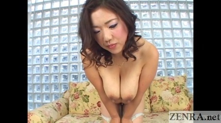 busty japanese housewife bends over