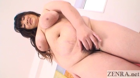 bbw japanese woman standing tall and naked