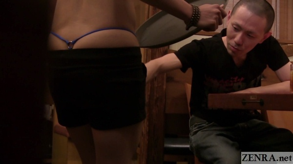 horny restaurant customer cops a feel