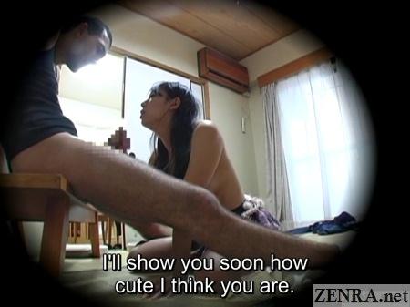 topless schoolgirl gives foreigner a handjob