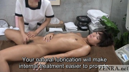 tan female customer erotic massage by clothed masseuse