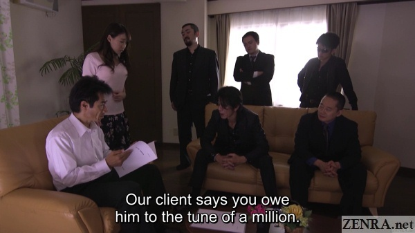 yakuza confront possible fraudster