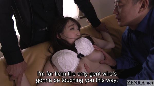 kurea hasumi felt up by yakuza while husband watches