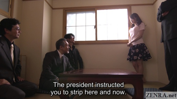 hasumi kurea instructed to strip naked