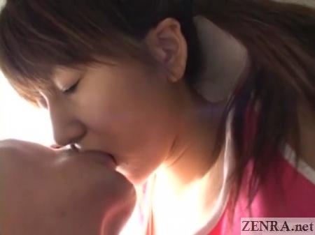 first kiss for japanese schoolgirl