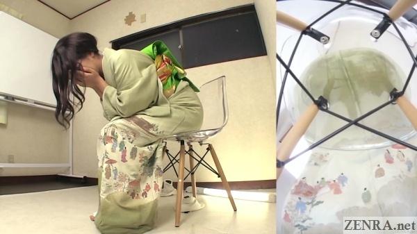 wet amateur in kimono