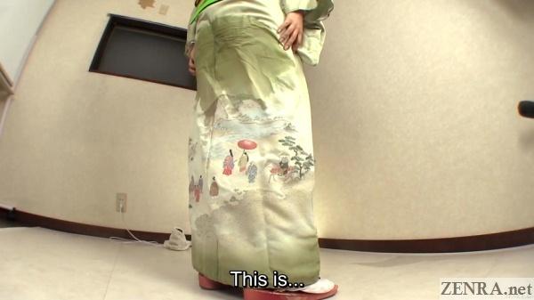 japanese kimono soaked in pee