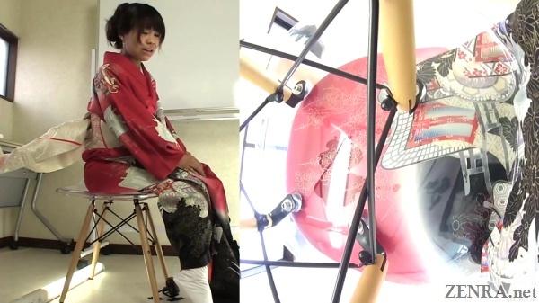 red kimono pee wetting