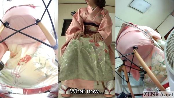 Subtitled japanese kimono pee desperation failure in hd 3