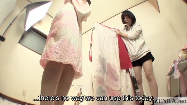 soaked kimono held by ad
