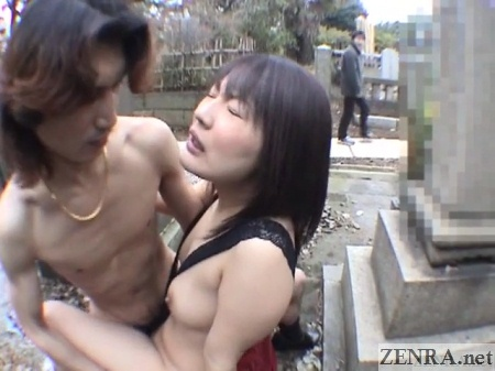 japan public graveyard sex passerby