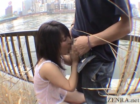 public japanese blowjob by river