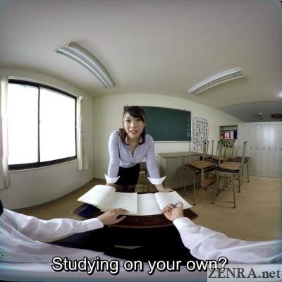 pov witih japanese teacher in vr