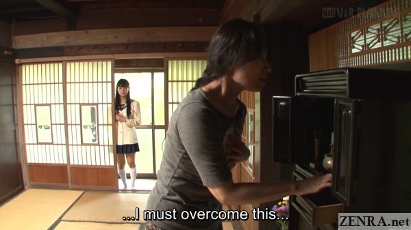 schoolgirl mizuna rei watches family altar