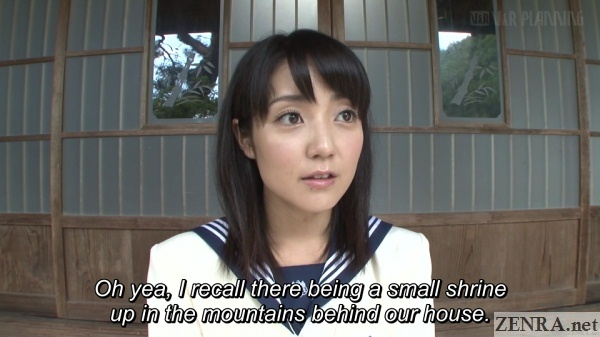 sayo arimoto prepares to visit mountain shrine