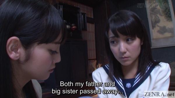 depressed japanese schoolgirl talks about loss