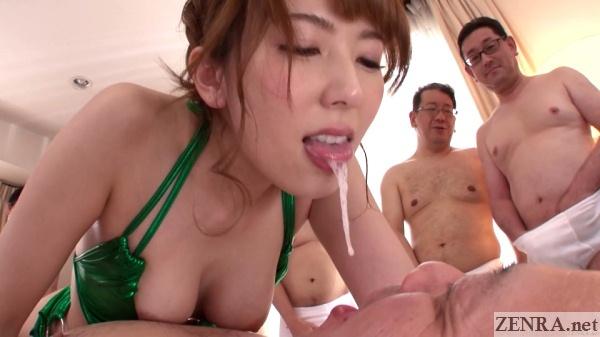 hatano yui femdom cum emptying into juice man