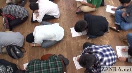 overhead view japanese av actor written exam