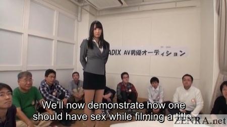 av actor hopefuls watch sex demonstration begin