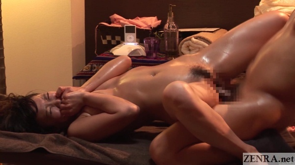 orgasming japanese woman sex with masseur