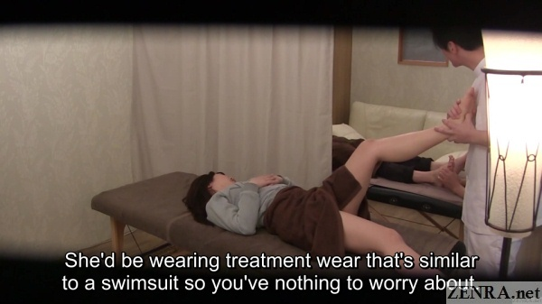 leg massage for japanese college student