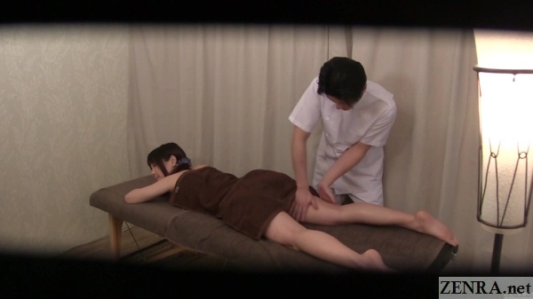 prone oil massage in japan