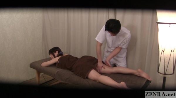 prone oil massage in japan
