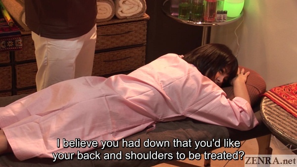 supine japanese massage begins