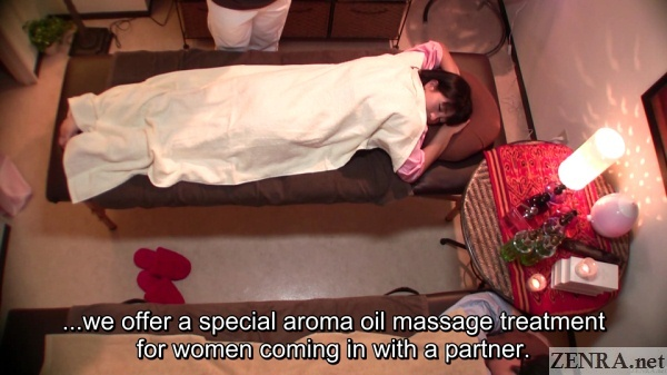 aroma oil massage for female clients