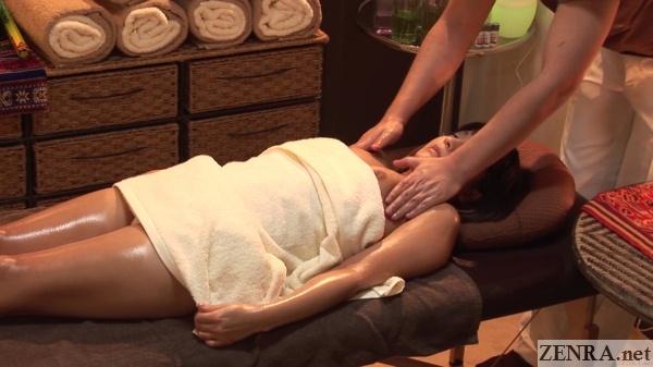 accidental nipple exposure during oil massage