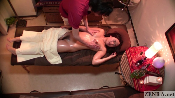 supine cmnf breast massage for japanese woman