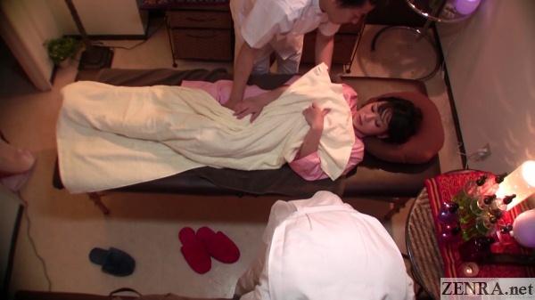 secret massage treatment with boyfriend next bed over