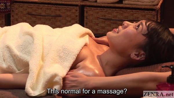 supine takase an oil massage