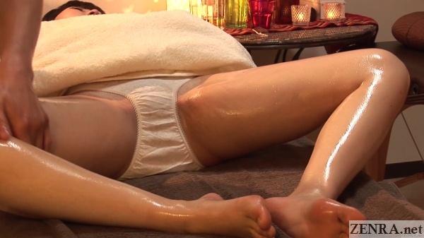 spread eagle japanese oil massage