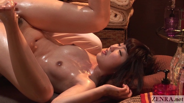 butt in air erotic japanese oil massage
