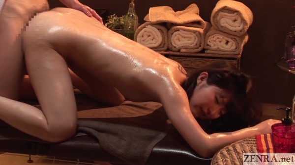 on all fours sex in japanese massage clinic