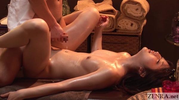 japanese masseur ejaculation over oiled up client