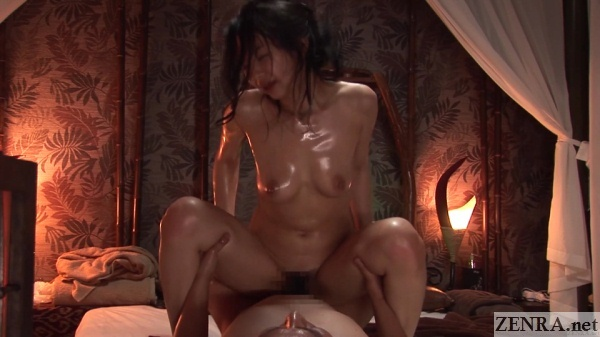 cowgirl sex at japanese holisitic spa