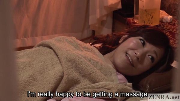 elated japanese girlfriend first massage