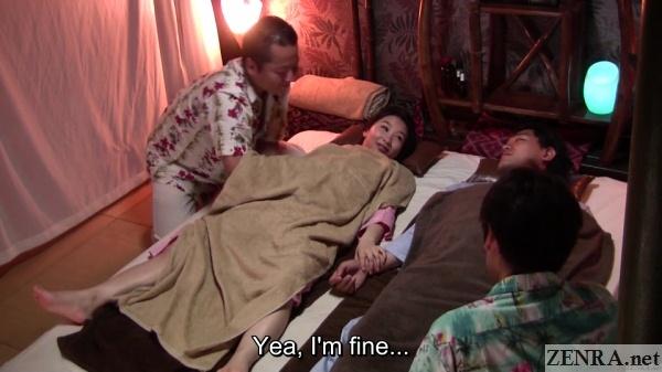 couple has massage at japanese spa