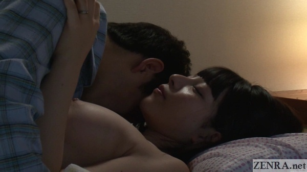 japanese husband and wife nighttime romance begins