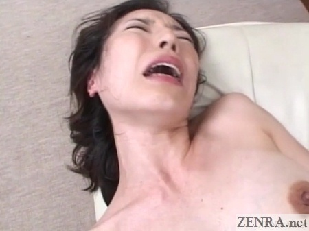 orgasming flushed japanese married woman