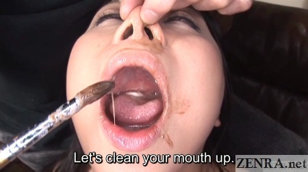 dirty wet and messy mouth and nose japan