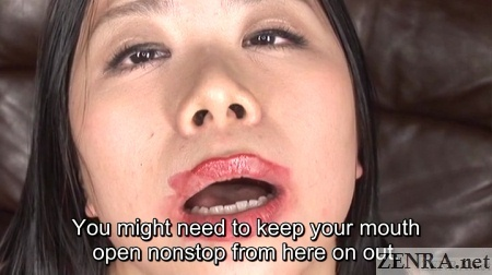 messy lipstick japanese woman